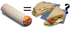 fast food news is a burrito a sandwich
